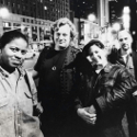 Soldier String Quartet, on tour in Europe, circa 1995: Judith Insell, Todd Reynolds, Dawn Avery, Dave Soldier